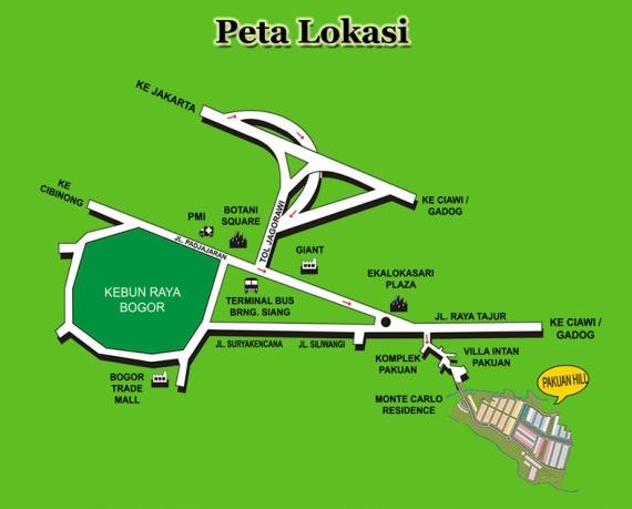 peta lokasi pakuan hill